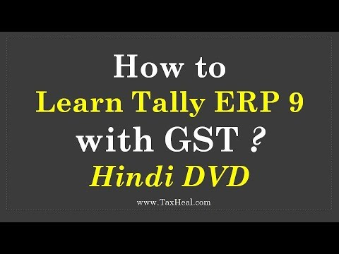 Learn Tally ERP9 with GST Hindi DVD and Book