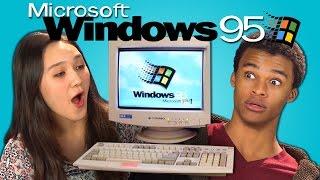 TEENS REACT TO WINDOWS 95 - YouTube