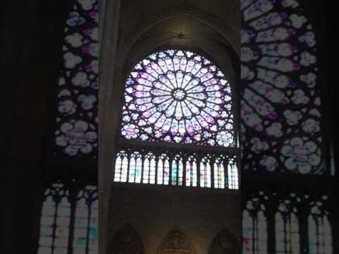 Giant rose windows, Paris Notre Dame