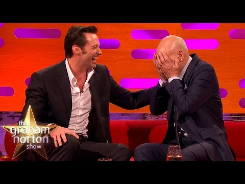 Hugh Jackman Loses It Over Sir Patrick Stewart  s Ridiculous Circumcision