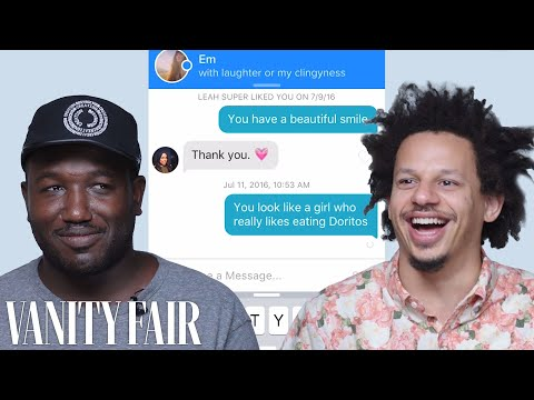 Comedians Eric Andr  and Hannibal Buress Hilariously Hijack Each Other s Tinder