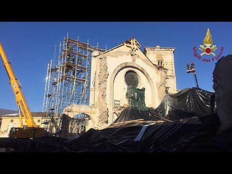 Nόρτσια: Εργασίες υποστύλωσης στον ιστορικό ναό του Αγίου Βενέδικτου