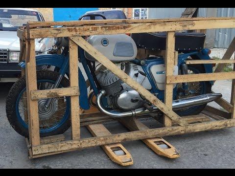 , title : 'Забытый на 38 лет: новый мотоцикл ИЖ Юпитер-3 1976 года в заводской упаковке Motorcycle in the crate'