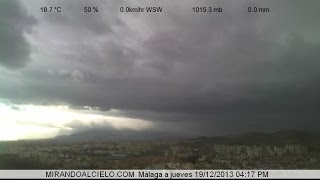 Timelapse Málaga 14/12/2013 a 19/12/2013