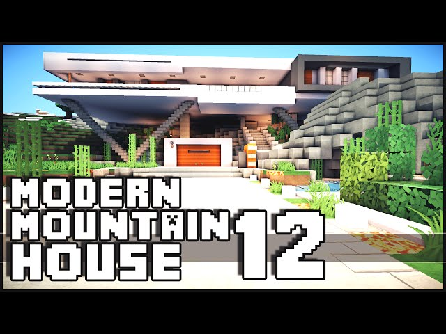 Minecraft modern mountain house 12 for Modern house music