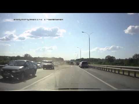 Авария на объездной в Новосибирске