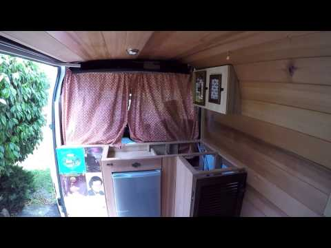 How To Convert A Renault Master Into A CAMPERVAN - Kitchen Curtains