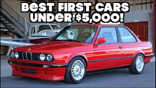 Top 10 BEST FIRST CARS UNDER $5,000! by Vehicle Virgins