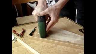 Bosch PTK 3.6 0603968120 - пластиковый уголок и тонкая деревянная рейка