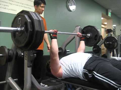 385 Raw Bench Press for 3 Reps