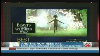 Oscar Nominations Announcement 2013 Seth MacFarlane&Emma Stone (January 10, 2013)