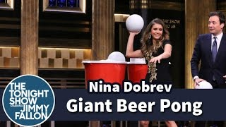 Video Giant Beer Pong with Nina Dobrev MP3, 3GP, MP4, WEBM, AVI, FLV Mei 2019