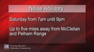 EMA Announces Noise Advisory Near McClellan and Pelham Range