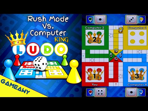 LUDO Game On Mobile   LUDO King Mobile Rush Mode Vs Computer   Board Games   Gameawy