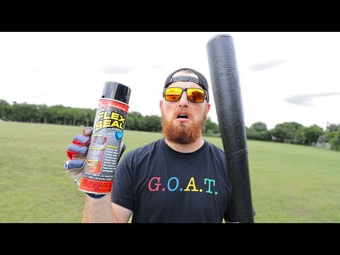 I Dipped A MLB Baseball Bat In FLEX SEAL!