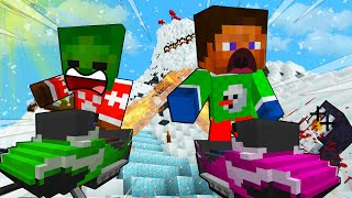 BABY Zombie DEADLY Sled RACE - MINECRAFT STEVE AND BABY ZOMBIE [57]