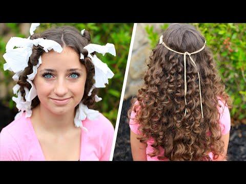 "How to Create ""No-Heat"" Paper Towel Curls"