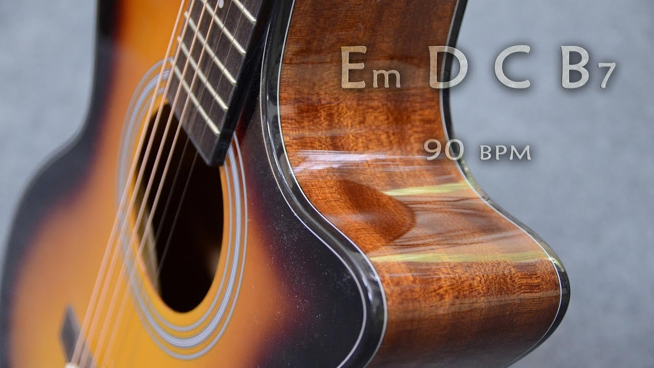 Acoustic Guitar Backing Track Ballad in E Minor Jam