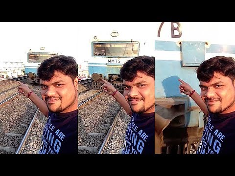 Shocking footage shows Indian man hit by train while posing for selfie