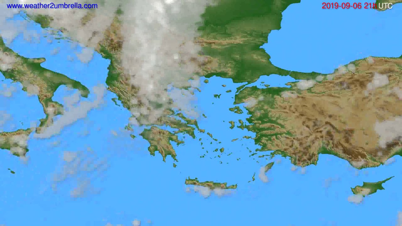 Cloud forecast Greece // modelrun: 00h UTC 2019-09-05