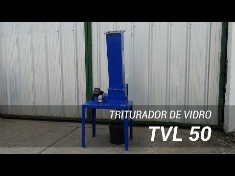 Triturador de vidro compacto para reciclagem TVL 50