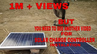 Video Solar panel installation #inverter # battery connection #step by step MP3, 3GP, MP4, WEBM, AVI, FLV Desember 2018