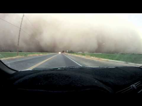 Driving Into The Haboob Dust Storm HD