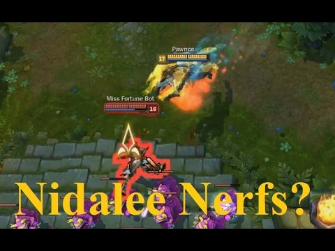 changes - Original Riot Post: http://boards.pbe.leagueoflegends.com/en/c/champions-gameplay-feedback/olJlok4U-nidalee-pbe-changes-for-911 http://www.Twitch.tv/Pawnce or http://www.lifeintheleague.com/livest...