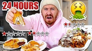 Video I Only Ate At The Worst Reviewed Restaurants In My City For 24 Hours!! (1 STAR) MP3, 3GP, MP4, WEBM, AVI, FLV Maret 2019