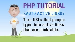PHP Active Clickable Link Function preg_replace Programming Tutorial