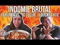 AYO MAKAN BRUTAL 10 Indomie , 10 Telur Ceplok , 1 Bucket KFC   GERRY GIRIANZA ft. BLACK