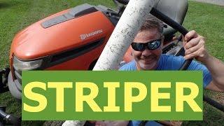 7. DIY Lawn Striper For Riding Mowers