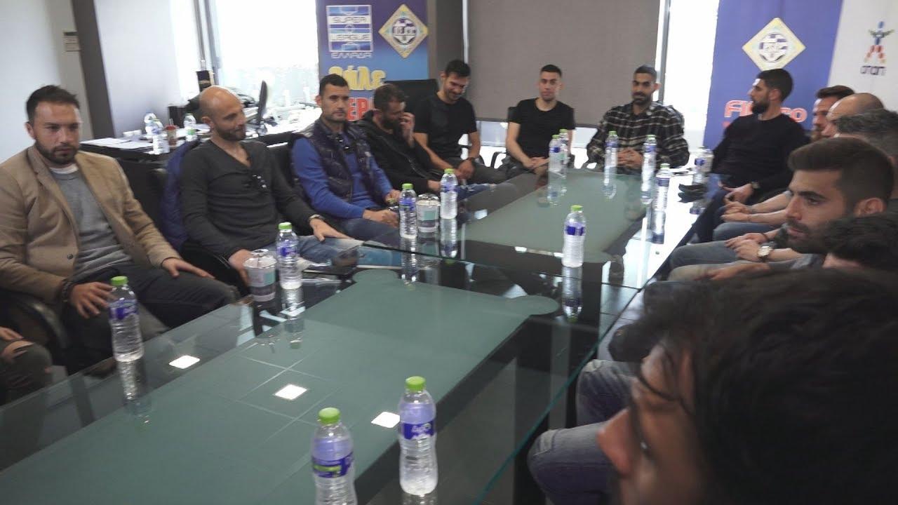 Συνάντηση του διοικητικού συμβούλιο του ΠΣΑΠ με τους αρχηγούς των ομάδων της Σούπερ Λιγκ