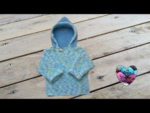 Pull à capuche bébé tricot facile