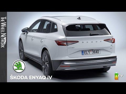 2021 Skoda Enyaq iV Electric SUV   Basic White   Exterior, Interior