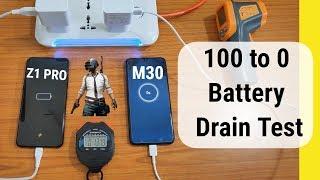 Vivo Z1 Pro vs Samsung Galaxy M30 Battery Test in Hindi | vivo z1 pro battery drain test