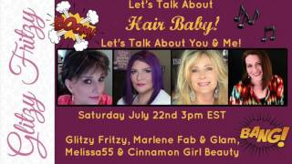 Live Stream on Sat, July 22nd @ 3 PM EST on Glitzy Fritzy's Channel with Mary, Michelle, Melissa55, and me!Mary's Channel: https://www.youtube.com/user/GlitzyFritzyMichelle's Channel: http://bit.ly/2e2vtylMelissa55's Channel: https://www.youtube.com/user/volmel55#livestream  #talkingabouthair #sexyafter40 #sexyafter50 #sexyafter60 #sexyhair