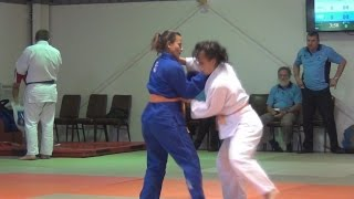 Angelina Upham competing in Women's 63kg division at Illawarra Judo Championships, Sydney Australia.