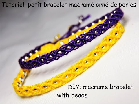 macramè - braccialetto con perline