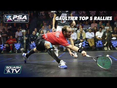 Squash: Greg Gaultier Top 5 Rallies