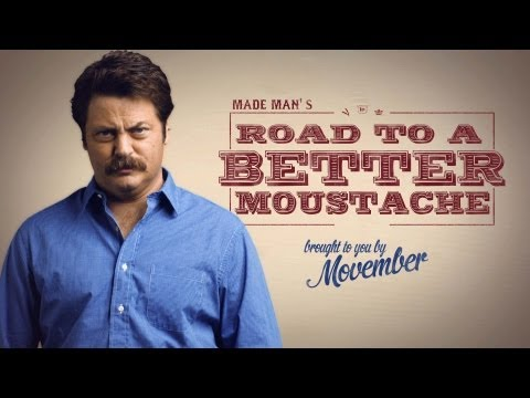 mustache - In honor of Movember, actor and renowned moustache grower Nick Offerman gives you, the everyday man, advice on how to grow a proper soup-strainer. Take notes...