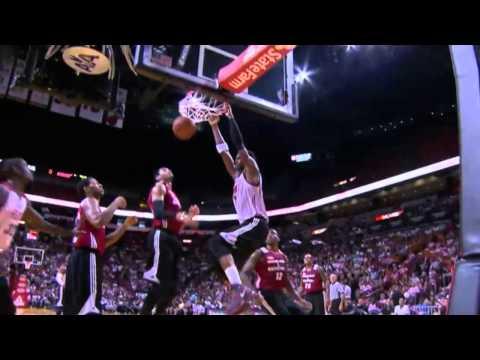 Video: Chris Bosh Throws Down the Monster Two Hand Slam