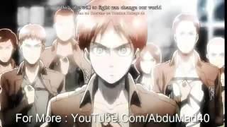 Nonton Lyrics   Attack On Titan   Theme Song   Crimson Bow And Arrow   Guren Ni Yumiya   Hd   Youtube Film Subtitle Indonesia Streaming Movie Download