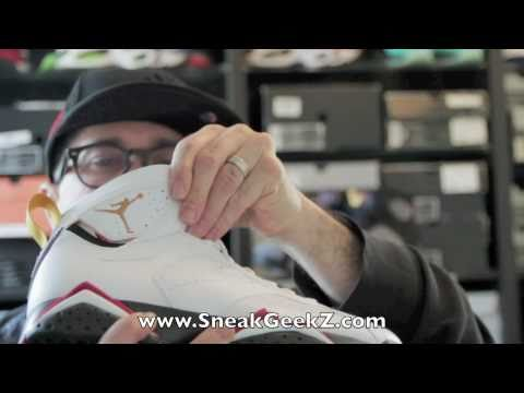 0 Air Jordan VII Retro Cardinal   Video Review
