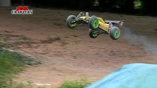 Hobao Hyper 9 Nitro 1:8 Scale Buggy Bashing And Jumping At DIOT Offroad Track RC Offroad Adventures