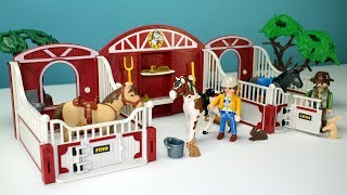 Video PLAYMOBIL Children's Pony Stable and Rabbit Barn Playset - Fun Toys For Kids MP3, 3GP, MP4, WEBM, AVI, FLV Mei 2017