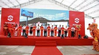 Sơn Hà khai trương nhà máy tại Nghệ An - Đài TH tỉnh Nghệ An đưa tin