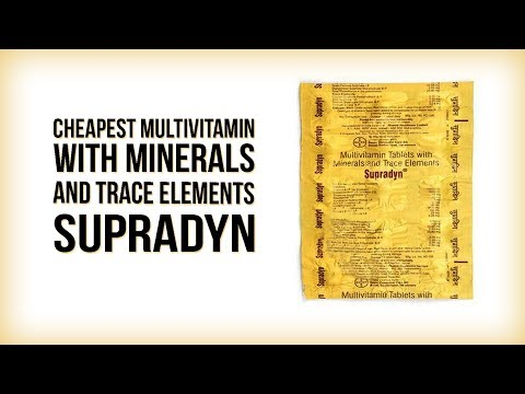Cheapest Multivitamin with Minerals and Trace elements SUPRADYN