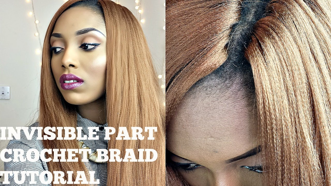 Knotless Crochet Box Braids : Crochet Braids With Kanekalon Hair ( Invisisible / Knotless Part )