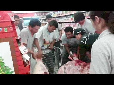 One dead in Argentina supermarket lootings - no comment